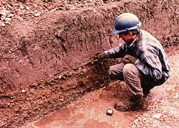 Merton Priory - Photo of Archeologist