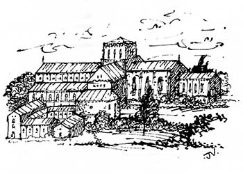 Merton Priory - Illustration